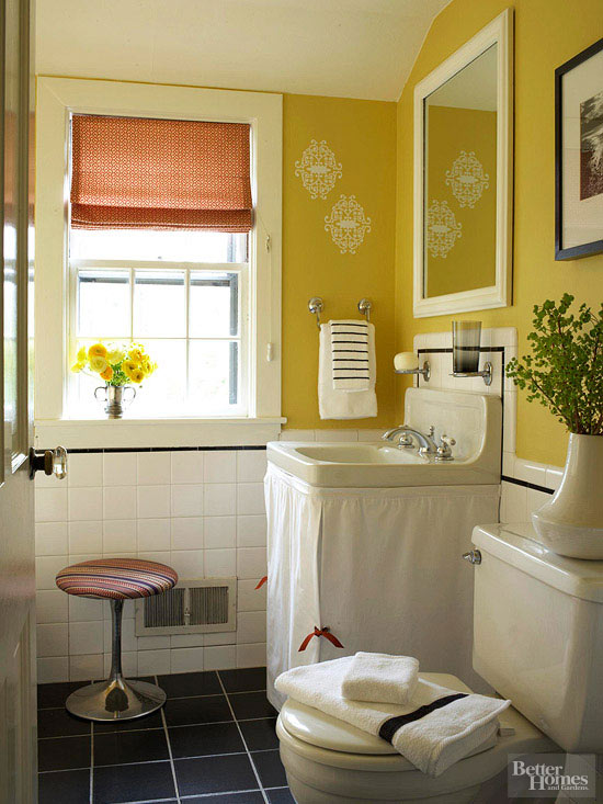 Yellow Bathroom Color Ideas. Gracious Blue Color Scheme Bathroom ...
