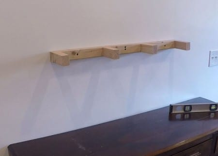 Remodelaholic Floating Shelf Interior Installed