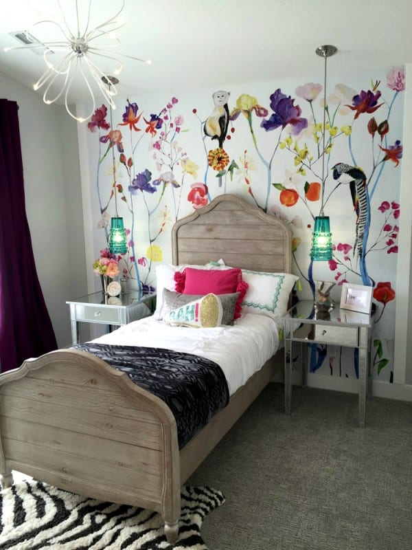 Remodelaholic Get This Look Colorful Eclectic Girl Bedroom 4