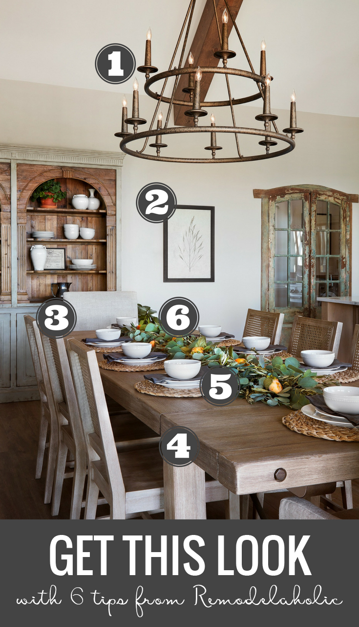 Tips And Sources For Decorating And Designing A Farmhouse Dining Room | Get  This Look: