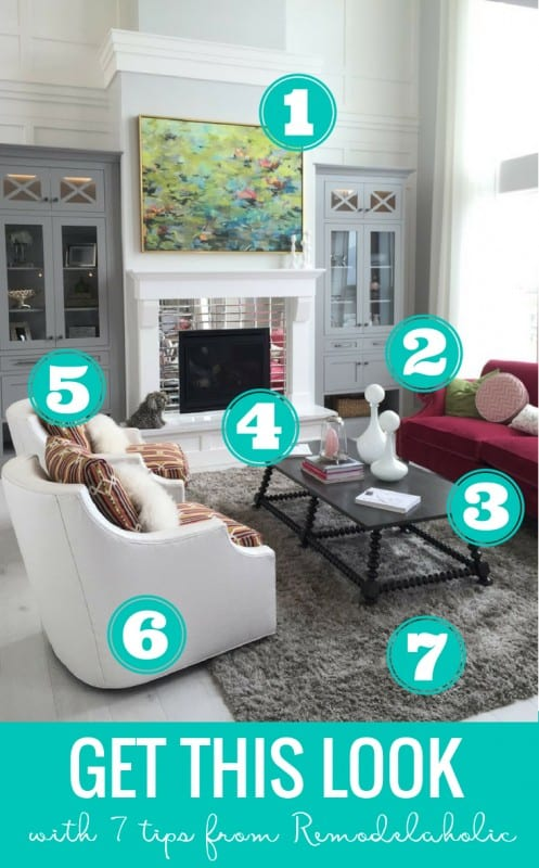Remodelaholic Get This Look Jewel Toned Statement Living Room