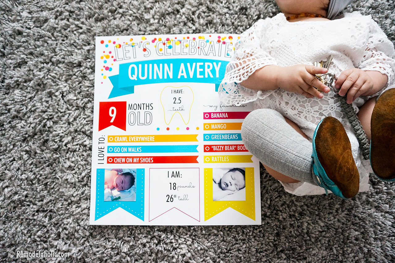 First Birthday Party Sign Baby firts year infographic First Birthday Keepsake 8x10 First Birthday Custom Infographic Poster