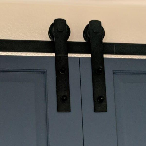 Denise, Double Window Barn Door Covering Roller Placement