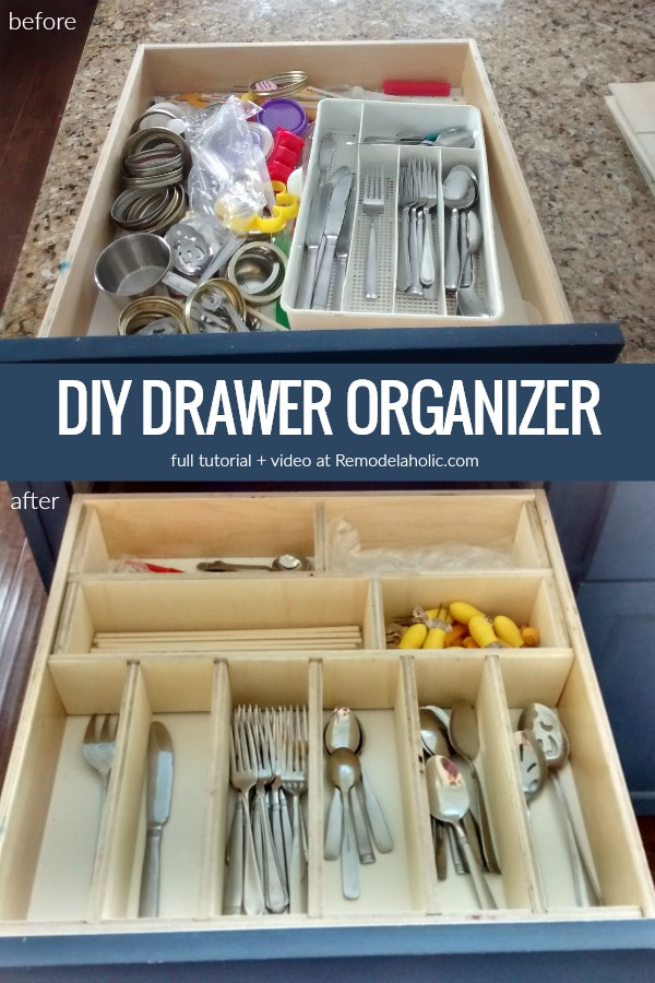 Diy Drawer Organizer With Dividers For Kitchen Utensils And Tools Remodelaholic Whip Your