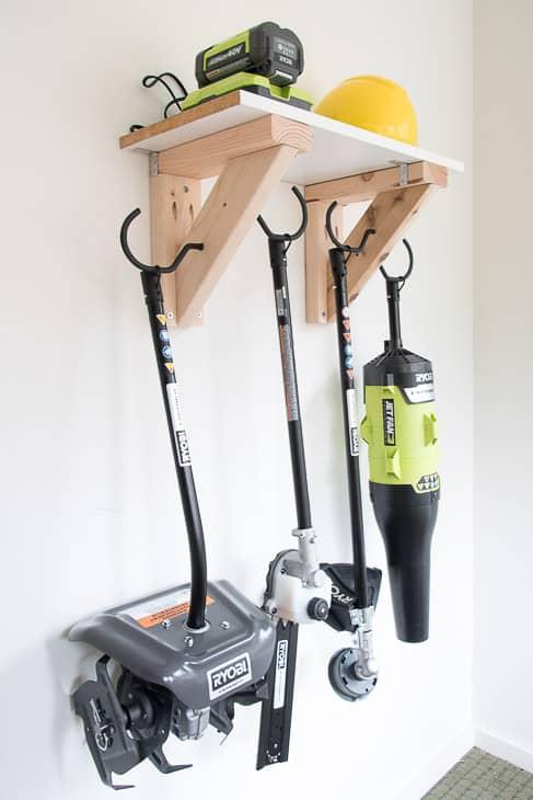 Easy Garden Tool Storage Rack, The Handyman's Daughter