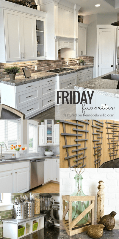Friday Favorites | Beautiful Kitchens + Decor Ideas + Gardening #remodelaholic