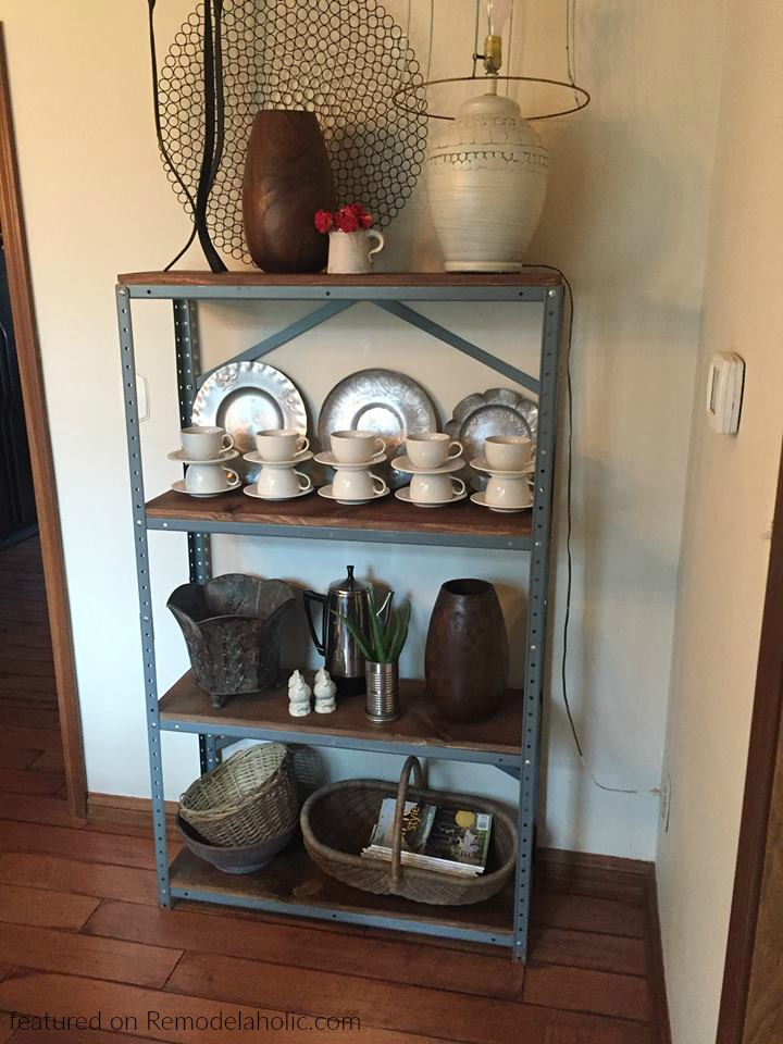 Metal And Wood Shelf Diy Michelle Featured On Remodelaholic Wm