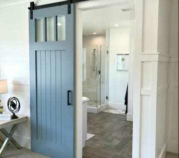 Modern Farmhouse Barn Door, Millhaven Homes