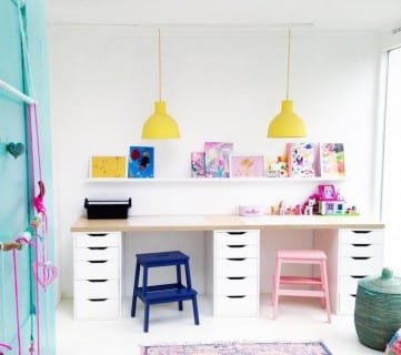 5 Tips to Create a Wild and Fun Kid's Desk or Homework Station
