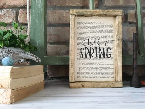 Vintage Farmhouse Spring Mantel, Refresh Living