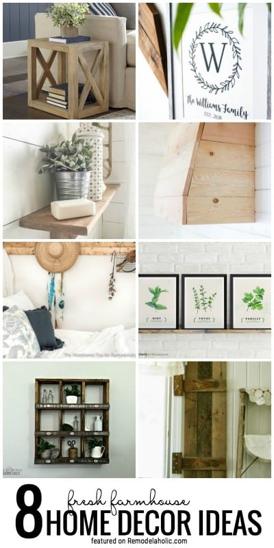 8 Fresh Farmhouse Home Decor Ideas Featured On Remodelaholic.com For Farmhouse On Boone