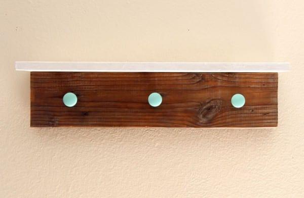 DIY Wood Wall Hanging Shelf ApieceofRainbowblog (12)