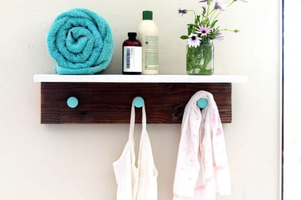 DIY Wood Wall Hanging Shelf ApieceofRainbowblog (18)