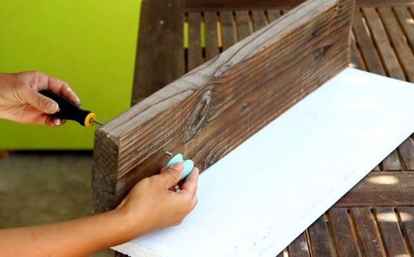 DIY Wood Wall Hanging Shelf ApieceofRainbowblog (6)