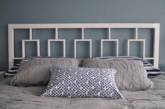 DIY Window Headboard, West Elm Knockoff, By Decor And The Dog Featured On @Remodelaholic