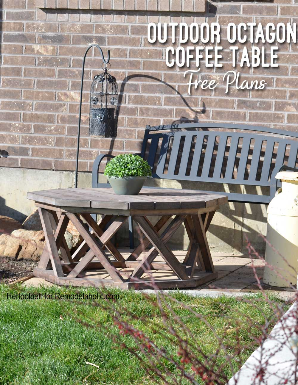 Remodelaholic How To Build An Outdoor Octagon Coffee