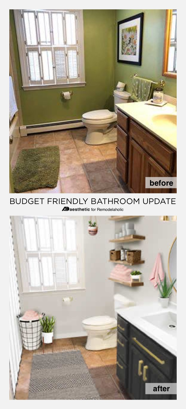 Real Life Rooms Budget Friendly Bathroom Update How To A On