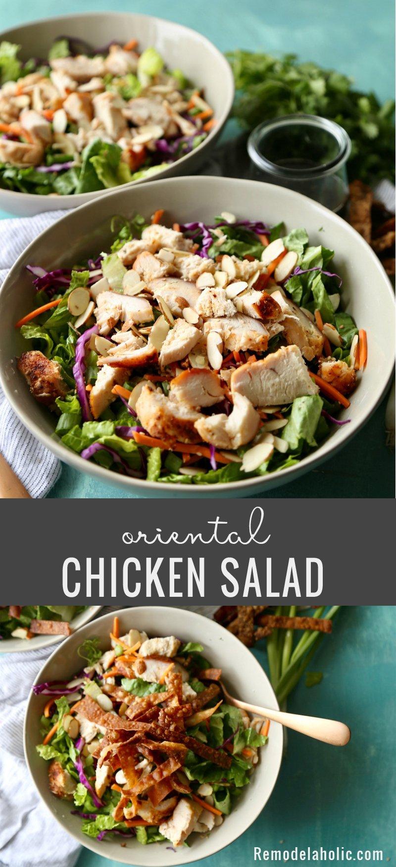 Remodelaholic Recipe Oriental Chicken Salad