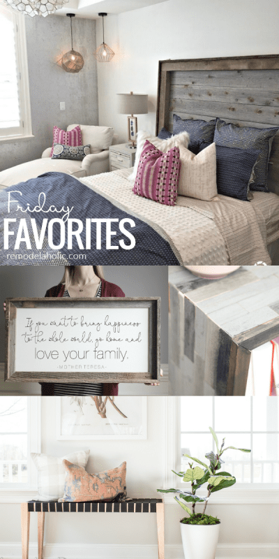 Friday Favorites Rustic Modern