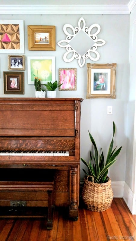 Gallery Wall Above The Piano, Reality Daydream