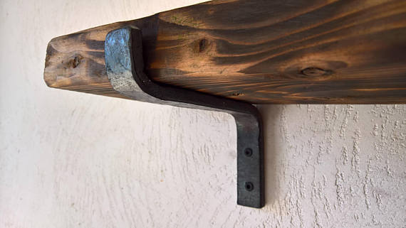Hand Forged Steel Shelf Brackets Sale, Solforge On Etsy