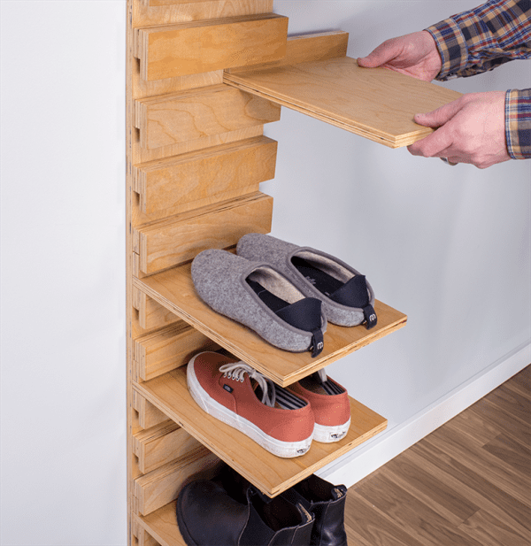 Plywood Wall Shoe Rack, Build Something