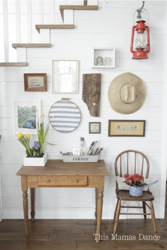 Simple Farmhouse Gallery Wall, This Mama's Dance