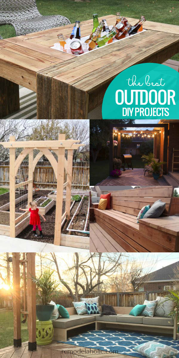Remodelaholic 15 outdoor diy projects for a summer ready for Diy crafts youtube channels