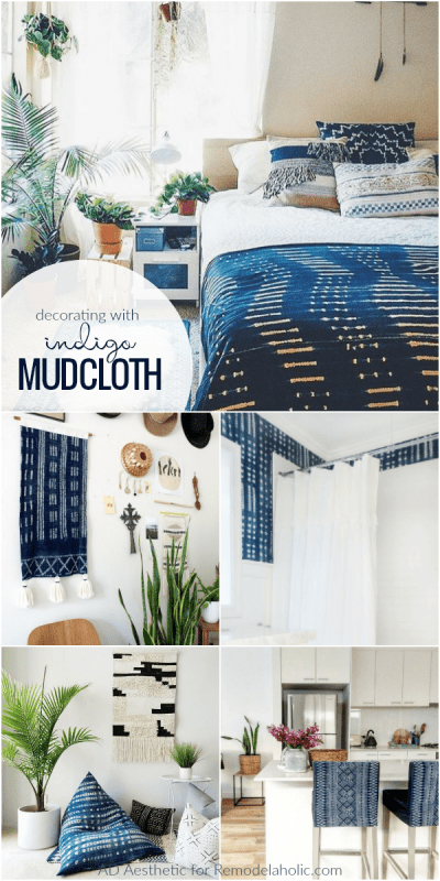 Tips For Decorating With Indigo Mudcloth #remodelaholic