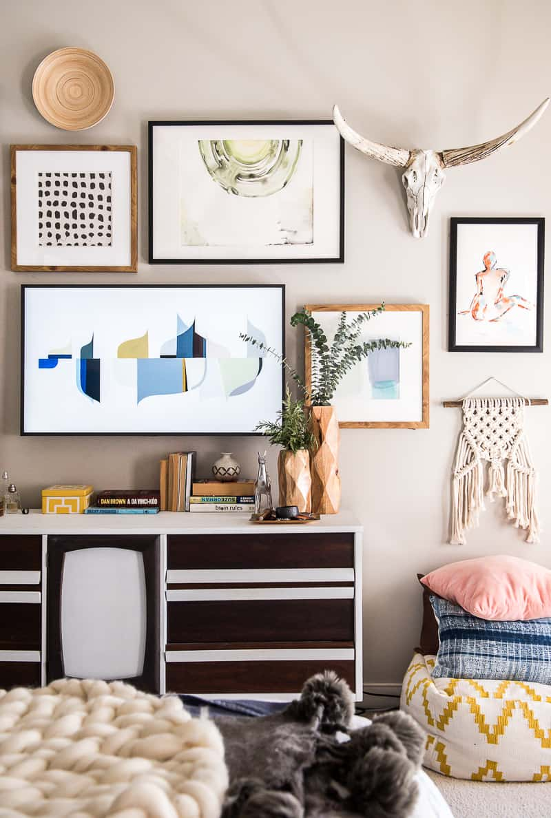 Remodelaholic easy gallery wall ideas tips for hanging - Hanging tv on wall ideas ...