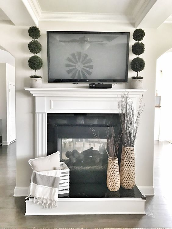 Decorating Ideas For A Tv Above Fireplace, How To Decorate Fireplace With Tv Over Mantel