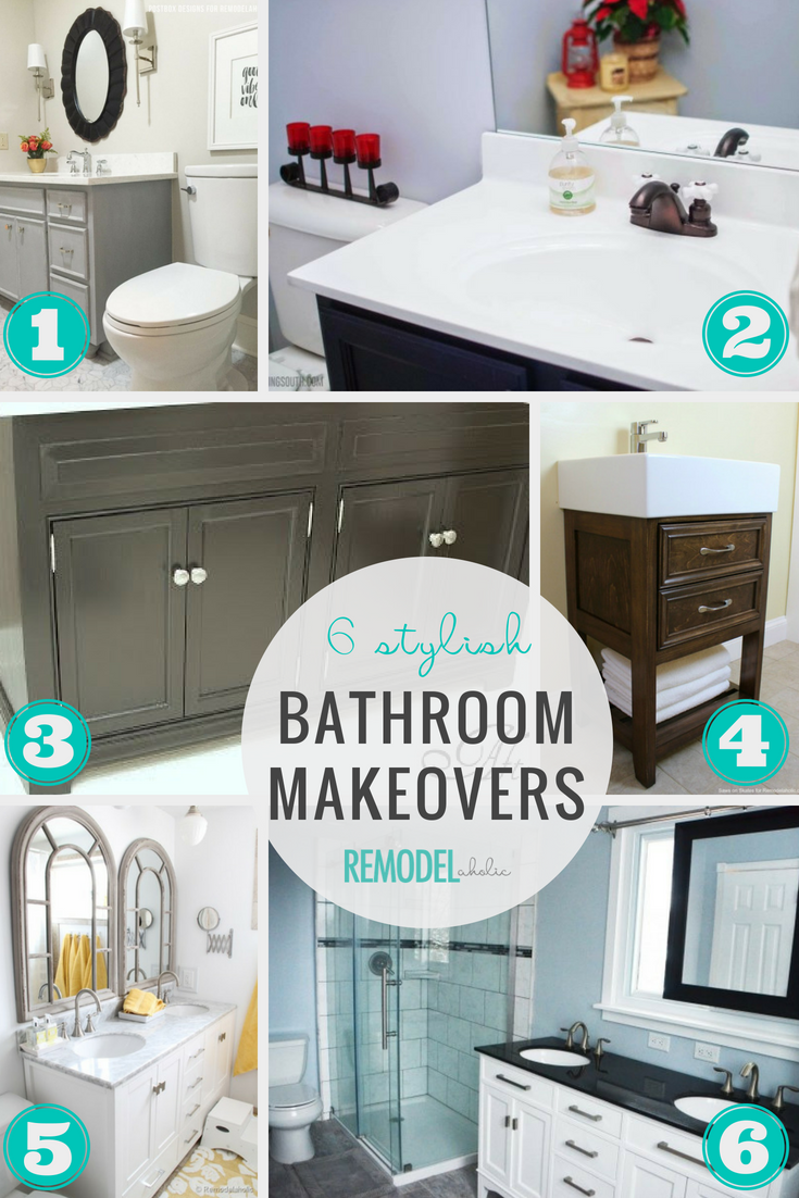 6 Stylish Bathroom Makeovers Featured On Remodelaholic