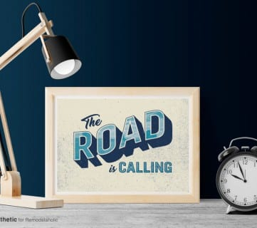Free Printable Graphic The Road Is Calling AD Aesthetic For Remodelaholic • Horizontal