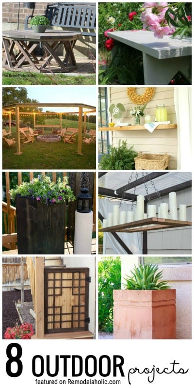 Get Building And Decorating Your Outdoor Spaces With These 8 Outdoor Projects Featured On Remodelaholic.com
