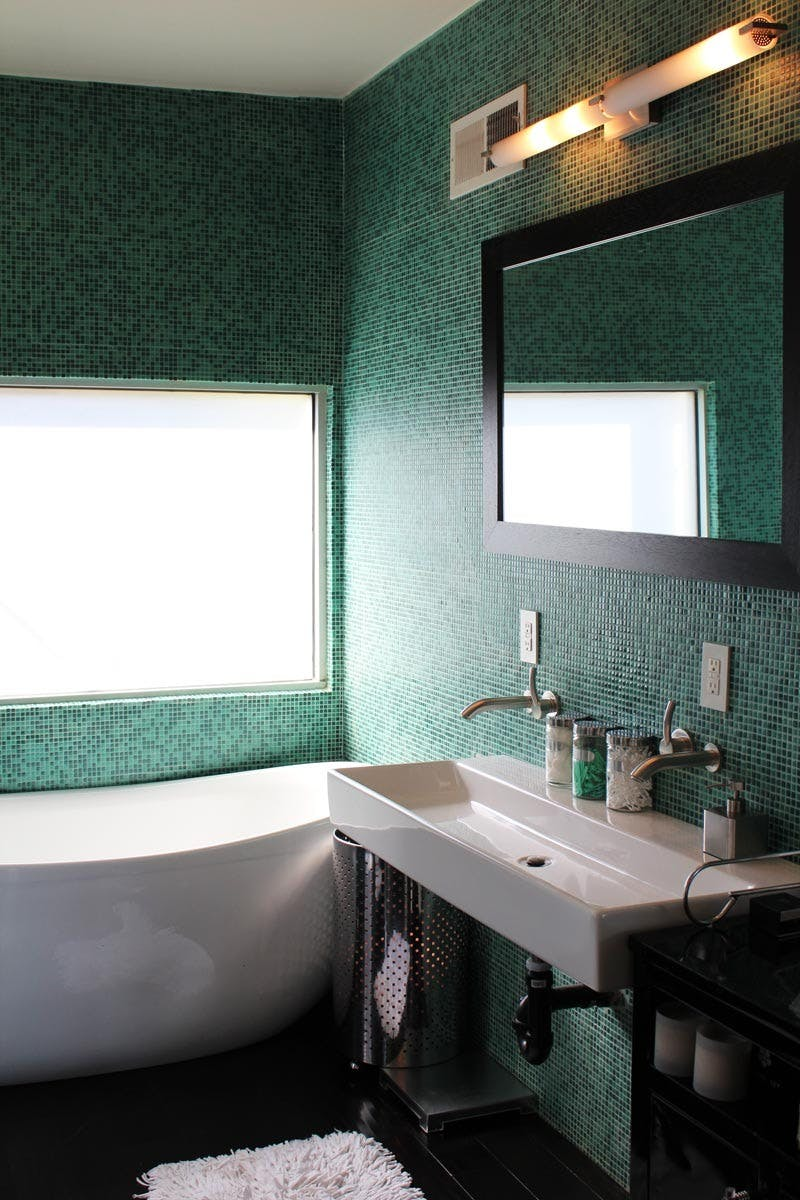 Remodelaholic Color Files Jade Green Bathroom 2