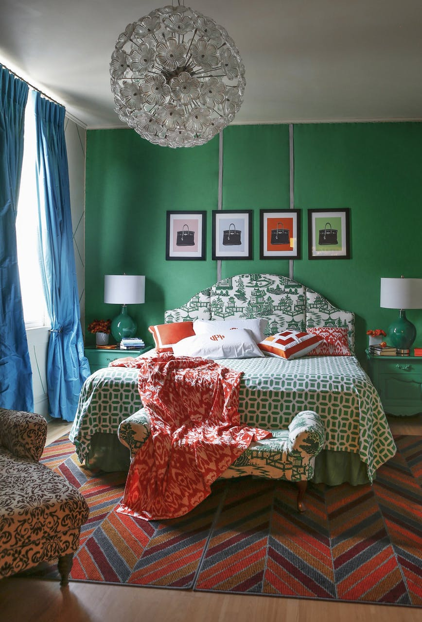 Remodelaholic Color Files Jade Green Bedroom 1