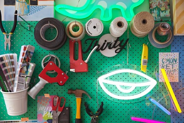 Remodelaholic Color Files Jade Green Pegboard 2