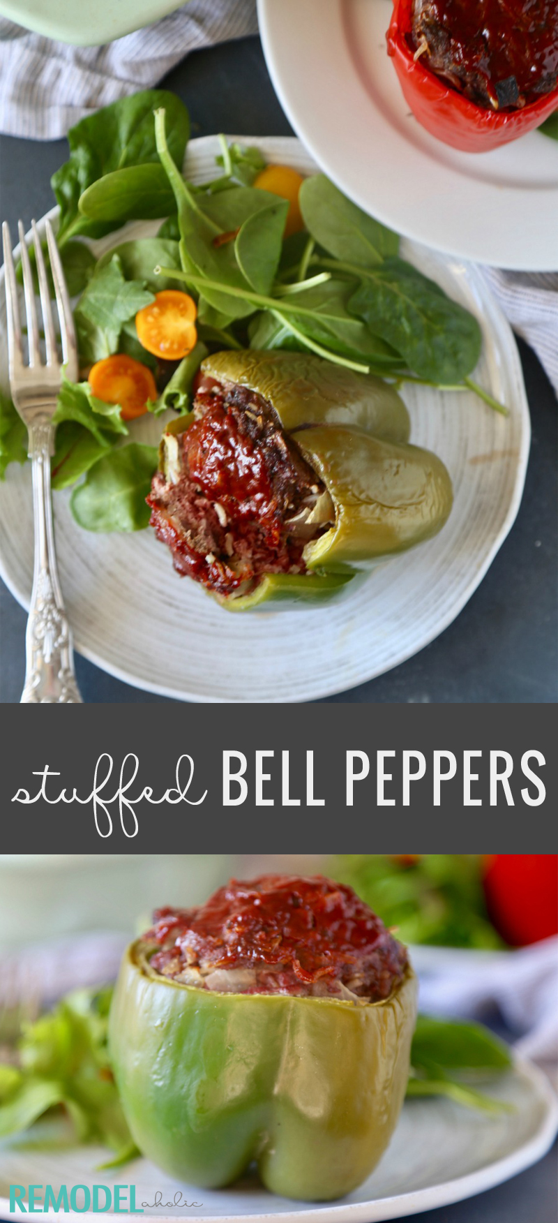 Stuffed Bell Peppers - A delicious stuffed peppers recipe to try tonight. Stuffed Peppers by Remodelaholic.com