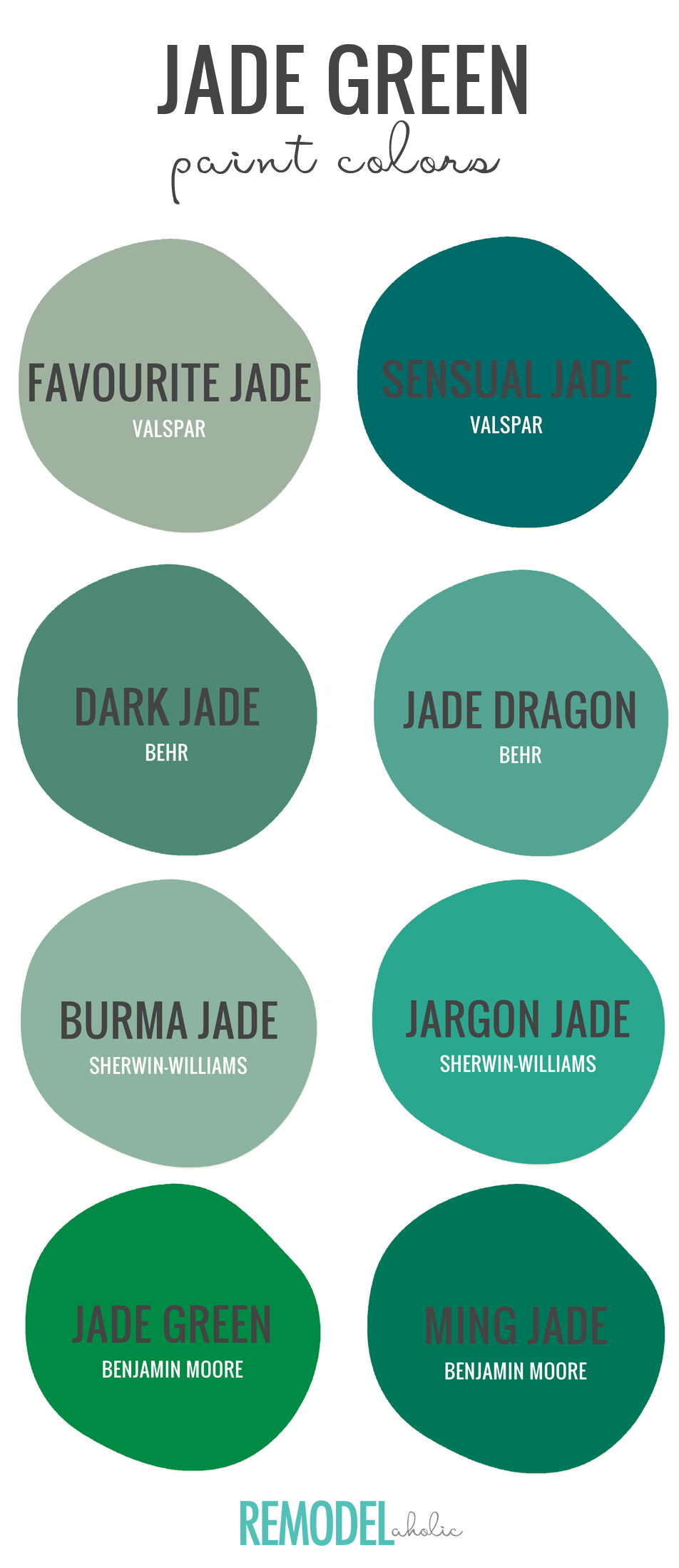 Jade Green Is One Of 2018 S Hottest Colors According To Hgtv Find The Perfect Variation