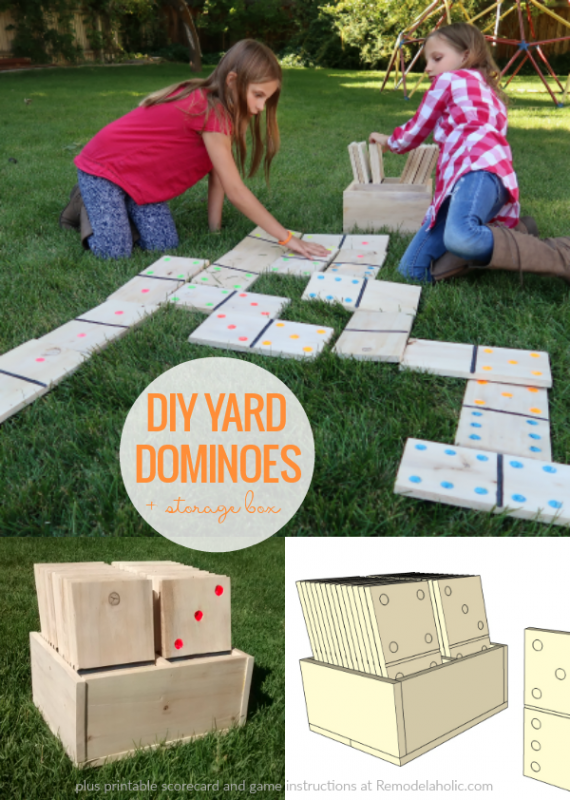 Diy Yard Dominoes Scorecard And Wood Domino Instructions, Remodelahohlic