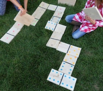 Pallet Wood Yard Dominoes + Printable Scorecard and Game Instructions
