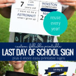 Infographic Custom Fillable First Day Of School Sign And Other Printable Signs, Remodelaholic