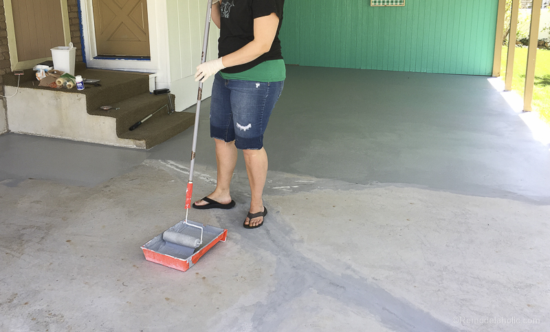 Painting A Patio With UGL Epoxy Floor Paint @Remodelaholic 10 2