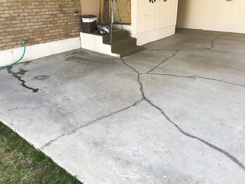 Painting A Patio With UGL Epoxy Floor Paint @Remodelaholic 14