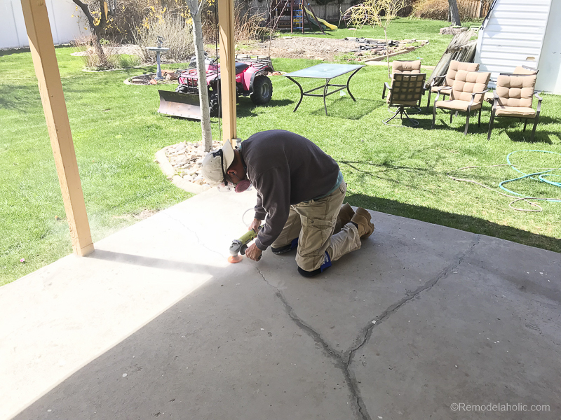 Painting A Patio With UGL Epoxy Floor Paint @Remodelaholic 16