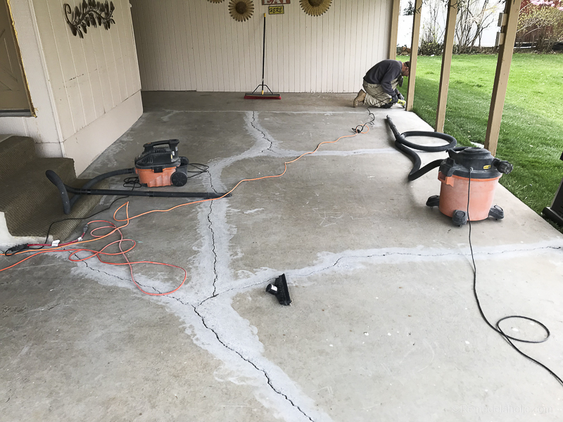 Painting A Patio With UGL Epoxy Floor Paint @Remodelaholic 18