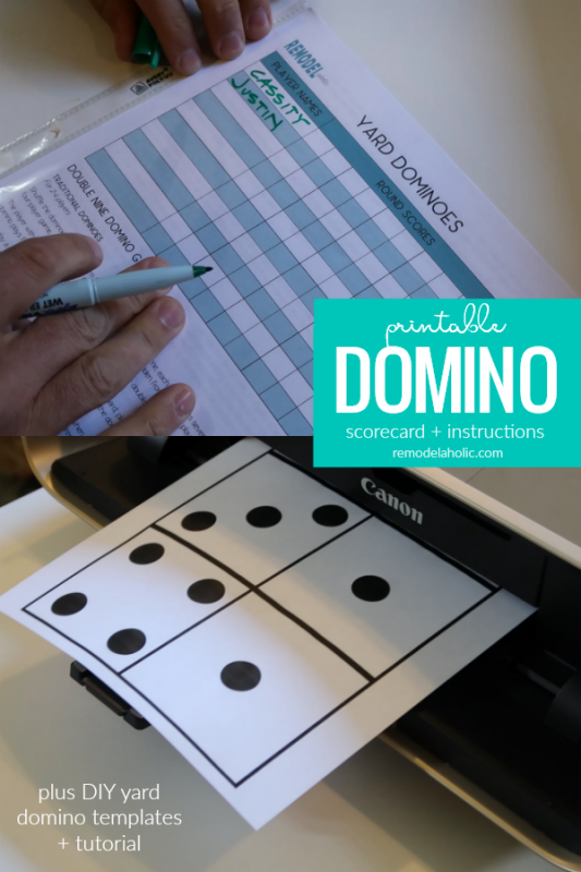 Printable Domino Scorecard And Game Instructions, DIY Domino Tutorial, Remodelaholic