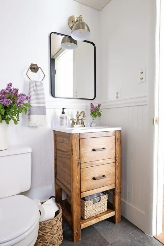 Small Bathroom Makeover, Angela Marie Made