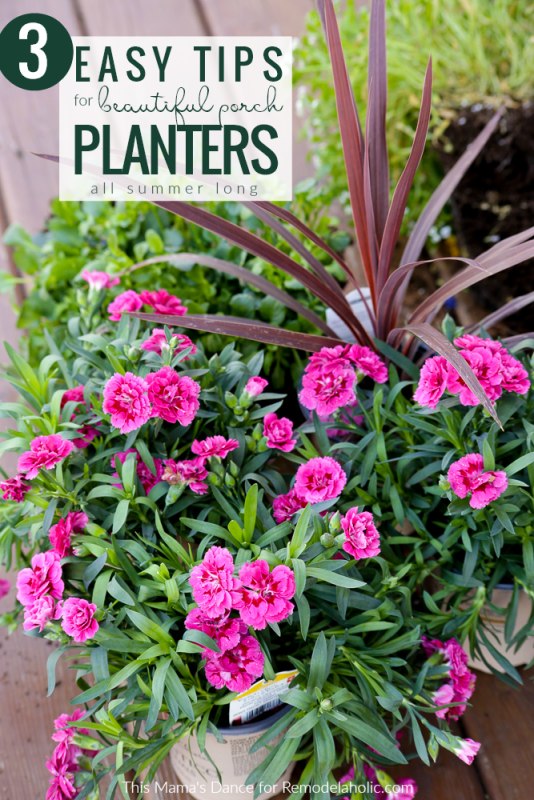 3 Easy Tips For Beautiful Annual Porch Planters All Summer Long #remodelaholic