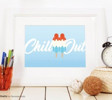 Free Printable Graphic Chill Out AD Aesthetic For Remodelaholic Horizontal